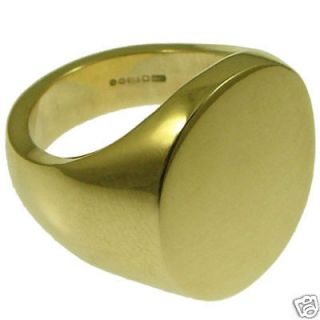 22g Large Quality Stamped Signet Ring Solid 9ct Gold