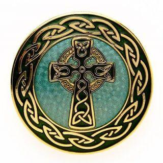 CROSS KNOT BROOCH PIN 22K GOLD PLATED/FILL WOMEN FASHION JEWELRY