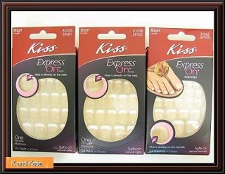 Pick 1 Kiss Express On Nails Toenails Stick on Sticker French Tip