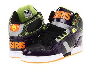Osiris NYC83 NYC 83 Hi High Top Purple Lime Orange Skate Shoes BNIB