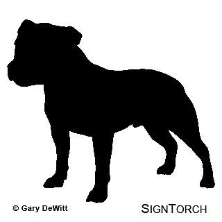 Staffordshire Bull Terrier Dog Vinyl Decal Sticker