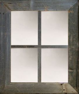 Mirror 3 Large 4 Pane Barn Window Mirror Barnwood Window Pane Mirror
