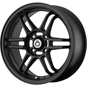 New 15X7.5 4x100 KONIG Lightspeed Black Wheels/Rims