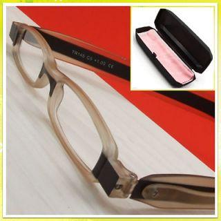 pcs. black+light brown mini Folding Reading Glasses