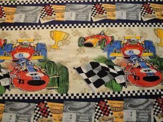 RACE CARS CHECKERED FLAG HORIZONTA L STRIPE AVLYN B TY GR8 FOR LITTLE