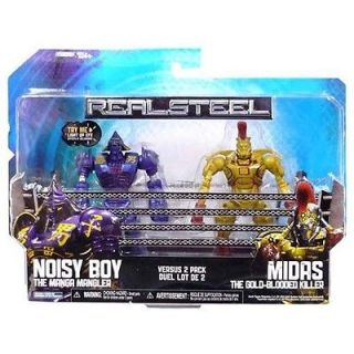 Real Steel Figure 2 Pack: Noisy Boy Vs Midas Gold Blooded Killer *New*