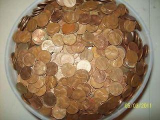 1500+ Copper Pennies ALL Pre 1982 Copper Bullion Scrap Poor mans gold