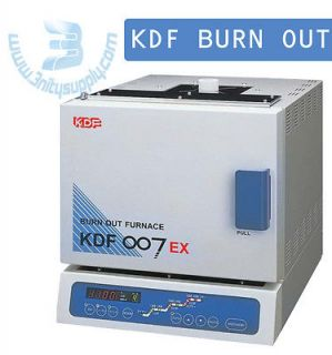 Burnout Furnace, Quick Heat Rise, Wide Chamber, KDF 007EX. Technically