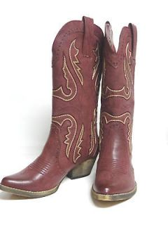 by Very Volatile Ladies Western Boots All Man Made Gold Tone Accents