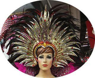Da NeeNa H039 Vegas Showgirl Drag Sun Goddess Rio Parade Feather