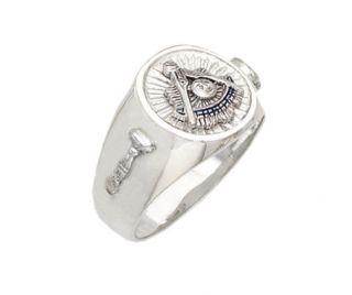 Silver Gold Masonic Freemason Mason Past Master Ring