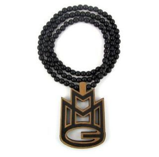 Wooden MMG Mybach Music Rick Ross Pendant Piece Chain Necklace Good