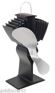 EcoFan Airmax Model 812 812AM KBX blac k with Nickel blades Stove Fan