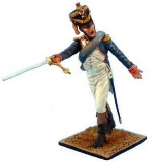 FIRST LEGION NAPOLEONIC NAP049 FRENCH LINE INFANTRY OFFICER POINTING