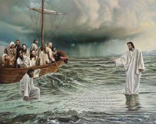 Jesus Walking On Water ~ Edible Image Icing Cake, CupcakeTopper