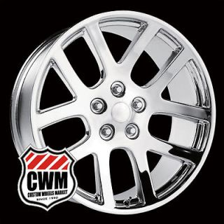 10 Dodge Ram SRT10 Style Chrome Wheels Rims for Dodge Ram 1500 2011
