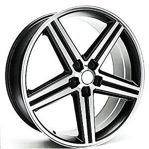 IROC WHEELS BLACK/MACHINED 20 5x120 (SET OF 4) 20X9 NEW CHEVY CAMARO
