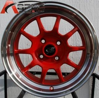 16X7 ROTA GT3 4X100 +40 ROYAL RED WHEEL FITS CIVIC INTEGRA CRX YARIS