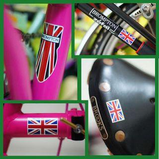 Brompton folded Bike British Style Hand Made Label 1 set free ship