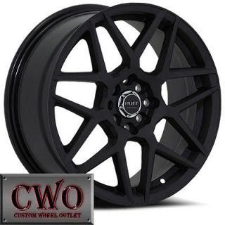 18 Black Ruff R351 Wheels Rims 5x100/5x114.3 5 Lug Jetta Altima Maxima