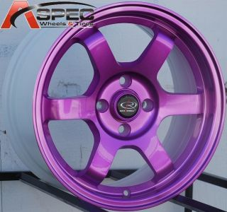 15X7 ROTA GRID WHEELS 4X100 RIMS FITS 4 LUG CIVIC 1980 2005