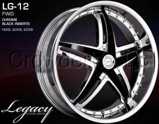 Legacy Car Truck Wheel Rim LG 12 Chrome 22 inch 5 Lug