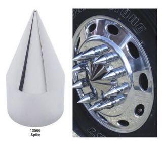 Chrome 33mm Push on Spike Lug Nut Cover 4 ¼ Height