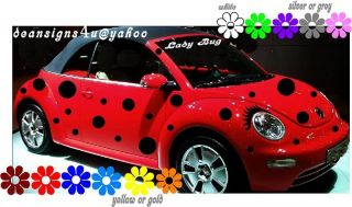 VW beetle spots dots ladybug volkswagon bug Eyelash 40