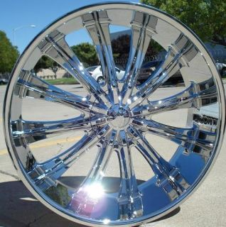 24 INCH WHEELS RIMS CHROME BW15 6X139.7 AVALANCHE 2001 2002 2003 2004