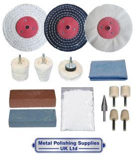Aluminium And Brass 15pc Metal Polishing Kit 4 x 1/2 NFKA 4001