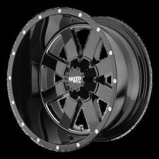Metal 962 Gloss BLACK Milled Accents Wheels Rims 8x6.5 Chevy Dodge