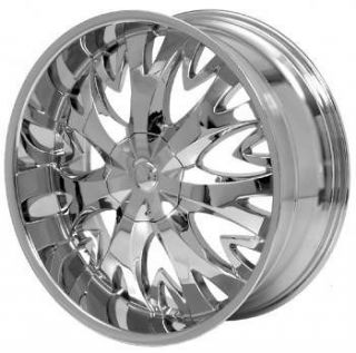 24 inch 24x10 H8 Chrome wheels rims Chrysler 300C 5x115