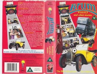 BRUM WHEELS AND OTHER STORIESVHS VIDEO PAL~ RARE FIND