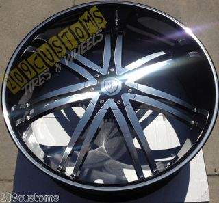 24 INCH WHEELS RIMS BLACK BW14 6X139.7 ESCALADE 2001 2002 2003 2004