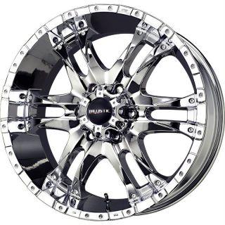 17 inch 17x9 Ballistic Wizard chrome wheels rims 6x135