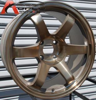 17X9 ROTA GRID WHEELS 4X100 RIM ET 25MM SPORT BRONZE