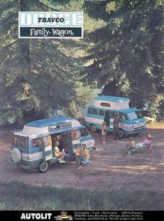1965 Dodge A100 Travco Camper Van Brochure wi1377 DR7PVR