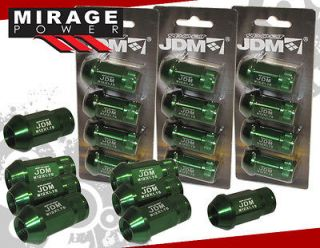 20pc FORGED WHEEL LUG NUTS GREEN ALL FORD M12 x 1.75 MM (Fits Mustang