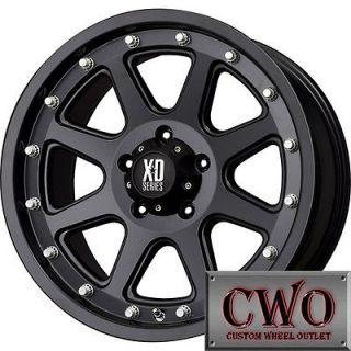 17 Black XD Series Addict Wheels Rims 8x165.1 8 Lug Chevy GMC Dodge