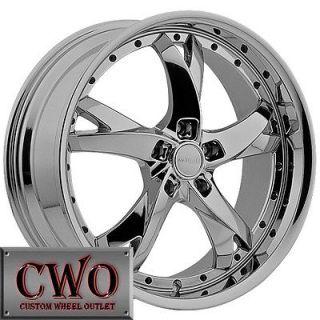 20 Chrome Menzari Wheels Rim 5x112 5 Lug Jetta Rabbit VW Audi A4 A6