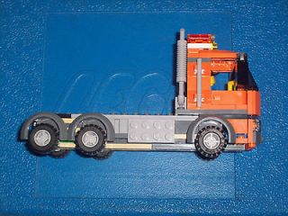 Lego City Customized Semi Truck Assembled NEW Plus Mini Figure Driver