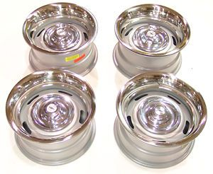 67 68 69 Camaro Corvette Nova Rally wheel kit 15x8 w/Disc caps & GM
