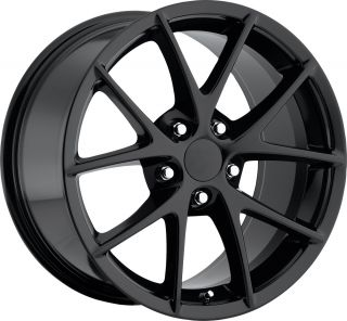C6 Z06 Corvette Spyders for A C6 2005 2013 Black Wheels Rims