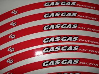 GAS GAS WHEEL RIM STICKERS DECALS RED GASGAS FACTORY TRIALS BIKE EC