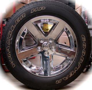 Ram 1500 Chrome 20 Factory OEM Wheels Rims Tires 2002 2013 Free Ship
