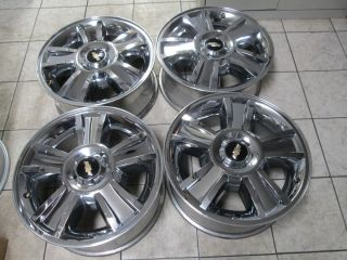 Chevy Silverado Tahoe Avalanch 1500 Factory Chrome Wheels Rims