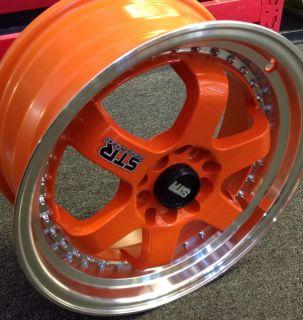 Orange Wheels Legend Accord Corolla Civic Cabrio CRX 4 Lug Rims