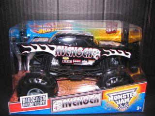 2012 Hot Wheels Monster Jam Avenger Monster Truck 1 24th Scale Black