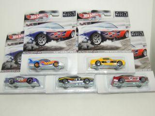 2012 Hot Wheels Racing Series Complete Case B Muscle 5 Car Mustang Etc