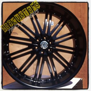 VERSANTE RIMS WHEELS TIRES VW212 BLACK 22X9 5 5X115 DODGE CHARGER 2011